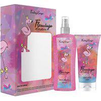 Kit Delikad Flamingo Dance Body Splash 200Ml + Loção Hidratante Body Lotion 200Ml Feminino Único