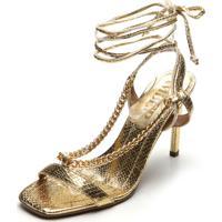 Sandália Amber Corrente Dourada