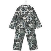 Bonpoint Pijama Preto De Algodão