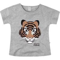 """Blusa """"Tigre""""- Cinza & Marrom Clarohering"""