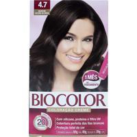Tintura Biocolor Kit Creme 4.7 Marrom Escuro Da Moda