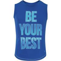 Camiseta Regata Oxer Be Feminina - Infantil - Azul