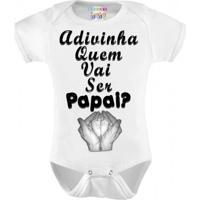 Body Personalizado M/C Adivinha Quem Vai Ser Papai