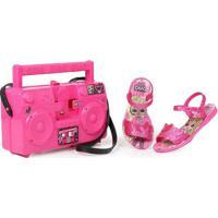 Sandália Infantil Grendene Lol Boombox Pink