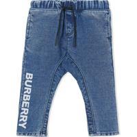 Burberry Kids Calça Jeans Slim Com Logo - Azul