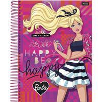 Caderno Espiral Foroni Capa Dura Barbie 96 Folhas