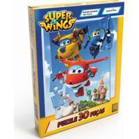 Jogo De Quebra-Cabeça - 30 Peças - Super Wings - Grow - Unissex-Incolor