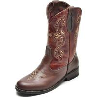 Bota Country Top Franca Shoes Feminina - Feminino-Cafe