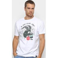Camiseta Hd Estampada Skull Roses Masculina - Masculino
