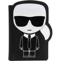 Karl Lagerfeld Porta-Passaporte 'K/Ikonik' - Preto
