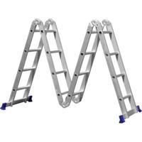 Escada Multifuncional 4X4 Em Alumínio - Mor - Unissex-Prata