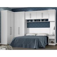 Dormitório De Casal 9 Portas Modena Branco - Lc Móveis