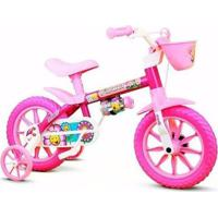 Bicicleta Infantil Menina Aro 12 Flower Nathor - Feminino