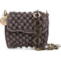 M Missoni Knitted Chain-Strap Mini-Bag - Roxo