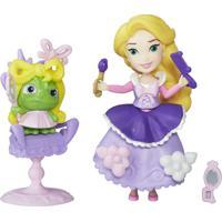 Mini Boneca Com Acessórios - Disney Princesas - Little Kingdom - Rapunzel Com Cadeirinha - Hasbro - Feminino-Incolor
