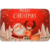 Tapete Para Banheiro Natal- Vermelho & Bege Claro- 6Mabruk
