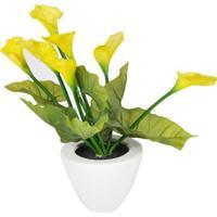 Flor Artificial- Verde & Amarela- 37Xã˜22Cmbtc Decor