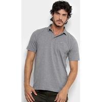 Camisa Polo Quiksilver Cotton Masculina - Masculino-Cinza