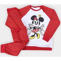 Pijama Infantil Lupo Minnie Longo Feminino - Feminino-Vermelho