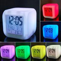 Relógio Despertador Digital E Termômetro 7 Cores