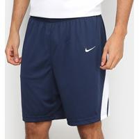Bermuda Nike Dri-Fit Stk Masculina - Masculino-Marinho+Branco