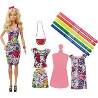 Boneca Barbie - Barbie & Crayola - Pintura Com Estilo - Mattel