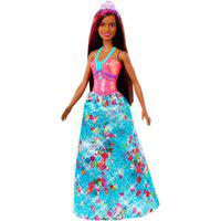 Barbie Dreamtopia Princesa Morena Vestido Diamantes - Mattel