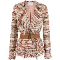 Nk Blazer Tweed Com Cinto - Estampado