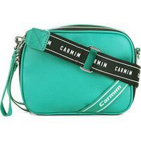 cb4376515 ... Bolsa Couro Carmim Mini Bag Alça Esportiva Feminina - Feminino-Verde  Água