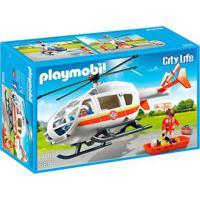 Playmobil - City Life - Helicóptero De Resgate Médico - 6686 - Sunny