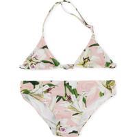 Dolce & Gabbana Kids Floral Bikini - Rosa