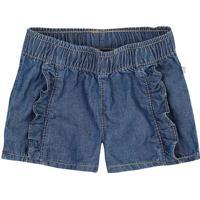 Short Jeans Com Babados- Azul- Baby- Heringhering