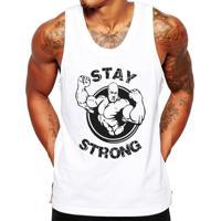 ... Camiseta Regata Criativa Urbana Fitness Stay Strong - Masculino-Branco 7ac2a57f704