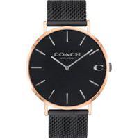 Relógio Coach Feminino Aço Preto - 14602470