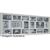 Painel Para 18 Fotos- Branco- 43X103X3Cm- Kaposkapos