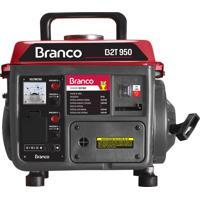 Gerador De Energia Branco B2T-950 A Gasolina 220V Partida Manual