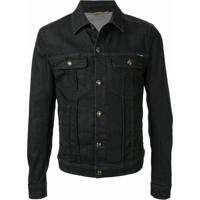 Dolce & Gabbana Jaqueta Jeans Com Botões De Coroa - Preto