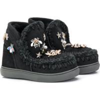 Mou Kids Embellished Eskimo Boots - Preto