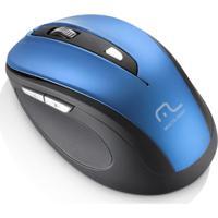Mouse Sem Fio 1600Dpi Usb 6 Botões Preto E Azul Multilaser