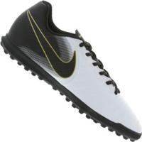 4edef0190947d Chuteira Society Nike Tiempo Legend X 7 Club Tf - Adulto - Branco Preto