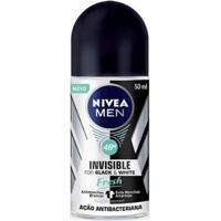 Desodorante Roll On Nivea Invisible Black & White Masculino 50Ml - Unissex-Incolor