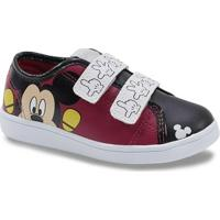 Tênis Infantil Personagens Mickey - Masculino-Vermelho