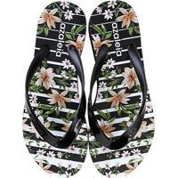 5c958104005355 Chinelo Azaleia Floral Feminino - Feminino-Preto