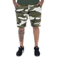 Bermuda De Moletom Nike Sportswear Club Ft Camo - Masculina - Verde Escuro