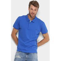 Camisa Polo Gangster Piquet Com Elastano Masculina - Masculino-Azul Royal