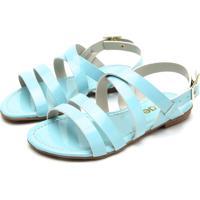 Sandália Tricae Verniz Menina Azul