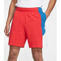 Short Nike Jersey Club Masculino - Masculino-Vermelho+Azul