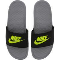 Chinelo Nike Benassi Jdi - Slide - Masculino - Cinza Cla/Preto