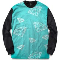 Blusa Bsc Diamonds Full Print - Masculino-Preto