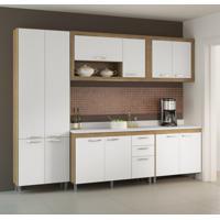 Cozinha Compacta Gualeguay 12 Pt 3 Gv Argila E Branco